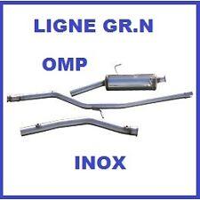 LIGNE ECHAPPEMENT GROUPE N OMP PEUGEOT 206 2,0 16V GT EN INOX
