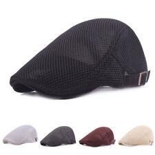 Summer Men's Breathable mesh Ivy Cap Beret Newsboy hat Gatsby Cap Cabbie FlatCap
