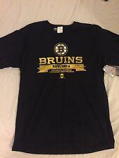 Black mens Boston bruins tee shirt regular season nhl size S-L