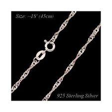 925 Argento Sterling catena SINGAPURE 45 o 50 cm