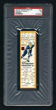 PSA 7 COLORADO ROCKIES 1979 Unused NHL Hockey Ticket at The Civic Arena