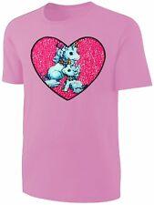 Mädchen T-Shirt Wende Pailletten Einhorn Herz Streichel Shirt Rosa