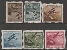 Liechtenstein SG110/5 1930 sellos de aire MTD Menta