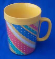 coffee mug cup Thermo Serv 1982 yellow stars stripes