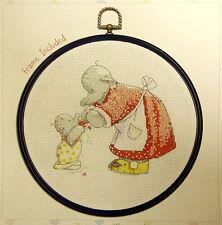Humphrey Elephant - A Mother's Love - Semco cross stitch kit - includes frame