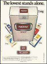 1984 Vintage magazine advertisement for Now 100's Cigarettes (091812)