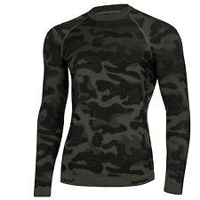 Spaio langarm Funktionsshirt, Sport Fitness Shirt Herren Jagd Armee Camouflage