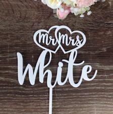 Personalised Acrylic Wedding Cake Topper Mr&Mrs Surname Custom Made Decoration