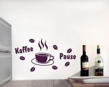 Wandtattoo Kaffeepause Wandaufkleber Küche 25 Farben 7 Größen Wandsticker Kaffee