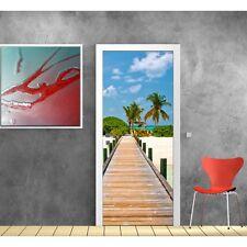 Affiche poster pour porte - Ponton Palmier 705 Art déco Stickers