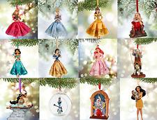 Disney Store Christmas Ornament Belle Aurora Jasmine Snow White Olaf Doc 2015