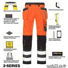 Snickers 3233 Haute Visibilité Pantalons De Travail Snickers Direct Orange