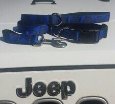 Jeep dog collar Electric Blue   #Collar #leash #harness