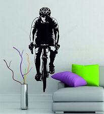 Bike Cyclist Bicycling Sports Gym Wall Art Stickers Decals Vinyl