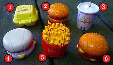 McDonald's 1987-89 1ST & 2nd SERIES Food Robot / Transformer PICK YOUR FAVORITE