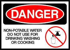 Non-Potable Water Do Not Use Danger OSHA / ANSI Aluminum METAL Sign