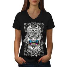 TOTEM spirito malvagio Moda Donna V-Neck T-shirt Nuove | wellcoda