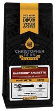Christopher Bean Coffee AMARETTO RASPBERRY Flavored Coffee 1-12 Oz Bag