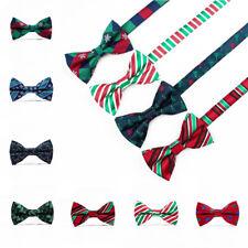 1PC Men's Christmas Tie Adjustable Wedding Cravat Fashion Casual Bowknot Bow Tie