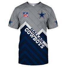 DALLAS COWBOYS T-Shirt Lycra Tee Shirts Football Team Fans Shirt NEW