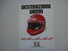 advertising Pubblicità 1981 CASCO DRIVER HELMO