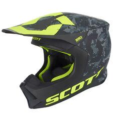 Scott 550 Camo MX Enduro Motorrad Helm schwarz/gelb 2019