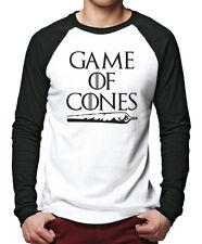 Game of Cones - Weed Smoking Men Baseball Top
