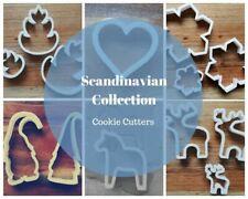 Scandi Christmas Cookie Cutter Biscuit Fondant Snowflake Tomte Heart Reindeer