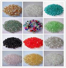 Al por mayor 1000 piezas 3X4mm Cristal Cristal Cuentas Hazlo tú mismo Color A Elección