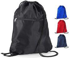 rouge bleu ou noir adultes Senior Sac de gym sac chaussure avec tirette