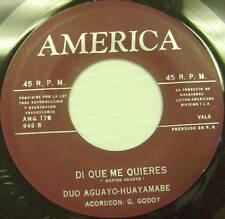DUO AGUAYO-HUAYAMABE Di Que Me Quieres LATIN 45 America