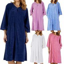 Slenderella Premium Quality Seersucker Nightdress or 3//4 Sleeve Popper Housecoat