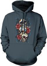 Three Skulls Roses Cross Web Jewel Floral Sugar Dia Muertos De Hoodie Sweatshirt