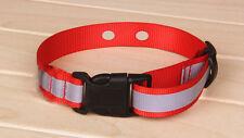 """Universal Heavy Duty Nylon 1 Inch RED Reflective Innotek Strap 2 Hole 1 5/8 """""""