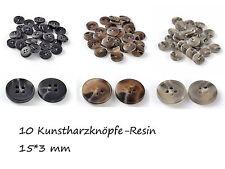 10 Stück Resin gefrostet Kunstharz Buttons rund Hosen Hemden Jacken Knopf Knöpfe