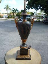 BEST 1940'S HOLLYWOOD REGENCY EMPIRE STYLE WOOD SWAN HEAD LAMP