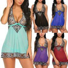 Women Lingerie Lace Bodydoll Chemise Nightwear Sleepwear Nightdress G-String XL