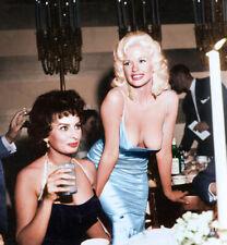 196404 Sophia Loren and Jayne Manfield at Romanoff's Wall Print Poster CA