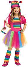 Rainbow Sock Monkey Girls Toddler Cute Toy Halloween Costume