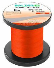 Balzer Iron Line 4 Orange Sea 25m 0,17mm 0,21mm 0,25mm 0,29mm Meeresschnur NEW