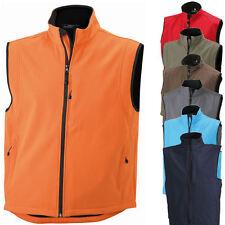 James & Nicholson Herren Weste Softshell Vest Jacke Sweatshirt Shirt S - XL