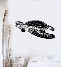 Vinyl Wall Decal Sea Turtle Marine Decoration Ocean Bathroom Stickers (555ig)
