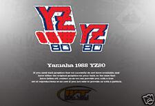 VINTAGE YAMAHA 1988 YZ80 TANK DECALS