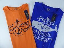Polo Ralph Lauren 100% Cotton T-shirt $49 Anchor Marine Whale Graphics NWT Shirt