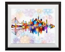 Uhomate San Francisco Skyline San Francisco City Print Nursery Wall Decor C009