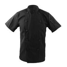 Black Executive Chef coat Chef Apparel Unisex Short Sleeve kitchen Chef Jackets