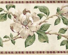 FLORAL Wallpaper BORDER Traditional Botanical Decor