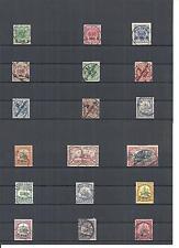DOA, Deutsch-Ostafrika, 1893 - 1920, Einzelmarken ex MiNrn: 1 - 39 o, gestempelt
