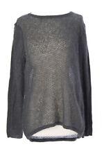 SURFACE TO AIR Women's Grey Melange Lovise Knit Sweater $155 NEW