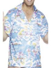 NEW Blue Hawaiian Shirt - Holiday Hawaii Beach Party Fancy Dress Accessory